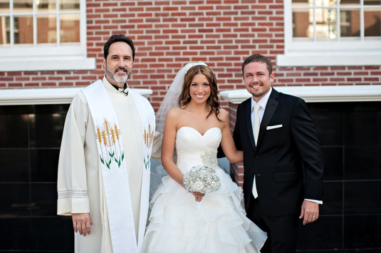 Fr. Chuck with Christina and Bradley Griffin, First Congregational Church, Winter Park, Florida